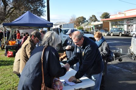 Rotarians at The Lancefield Farmers Market